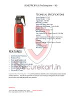 Features OF Ceasefire B PLUS Fire Extinguisher - 1 KG