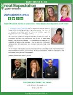 Get Professional master of ceremonies - Great Expectation Speakers and Trainers
