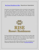 Rise Resort Residences Villas - Beyond your Expectation