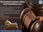 Government Contract, Claims and Terminations Law
