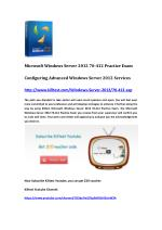 Microsoft Certification 70-412 Questions and Answers