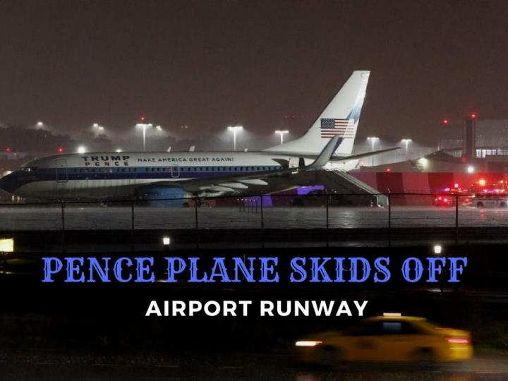Pence plane skids off airport runway