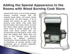 Cooking Wood Stove