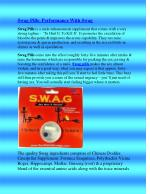 Swag Pills- Performance WithSwag