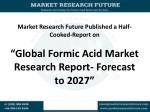 Global Formic Acid Market Research Report- Forecast to 2027