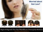 Homeopathic medicines for hairfall