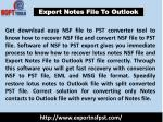 Export Notes File To Outlook