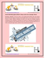 How to Improve Businesses via Internet Marketing