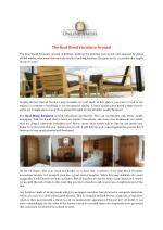 The Real Wood Furniture Around
