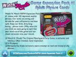 Watch Ya' Mouth Game Expansion Pack #1 - Adult Phrase Cards