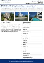 Barco A La Vista for sale Cayman Residential Property   MLS# 404691