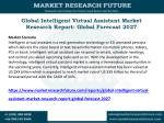 Intelligent Virtual Assistant Market Research, Size, Share Analysis by Manufacturers, Regions, Type and Application to 2