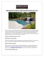 Improving Style of Indoors With Waterfall Creations New York
