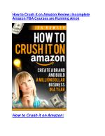 How to Crush it on Amazon review- How to Crush it on Amazon (MEGA) $21,400 bonus