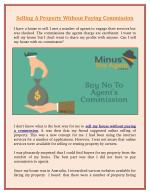 Selling a Property Without Paying Commission