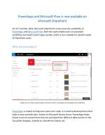 SharePoint welcomes PowerApps and Microsoft Flow