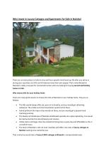 Available 3,4 bhk Cottages for sale in hills,Best 4bhk Flats and Apartments for sale in Bhowali