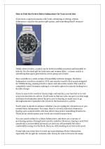 How to Find the Perfect Rolex Submariner for Your Loved One