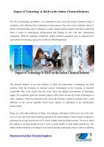 Impact of technology & R & D on the Indian Chemical Industry