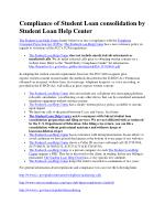 Compliance of Student Loan consolidation by The Student Loan Help Center