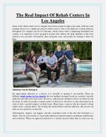 The Real Impact Of Rehab Centers In Los Angeles