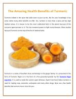 Turmeric Powder Manufacturers Offer Turmeric with Health Benefits