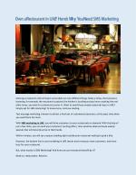 Own a Restaurant in UAE Here's Why You Need SMS Marketing