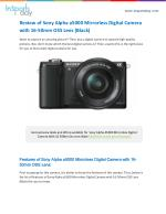 Review of Sony Alpha a5000 Mirrorless Digital Camera with 16-50mm OSS Lens (Black)