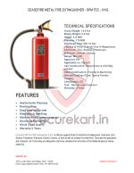 Features of Metal Fire Extinguisher SPM-TEC 9 KG