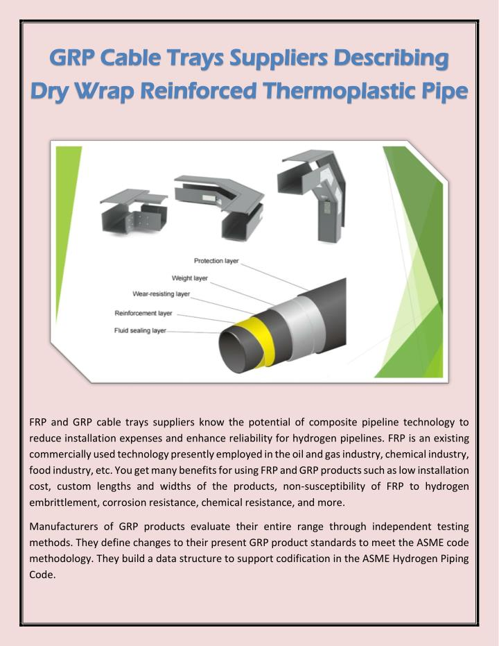 PPT - GRP Cable Trays Suppliers Describing Dry Wrap
