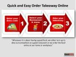 Quick and Easy Order Takeaway Online