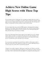 Achieve New Online Game High Scores with These Top Tips