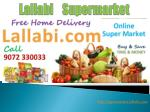 Online Grocery delivery in Kerala