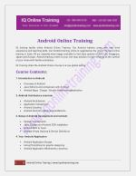 Live, instructor-led Android Online Training