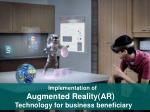 Implementation of Augmented Reality(AR) Technology for business beneficiary