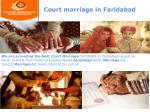 Court marriage in NCR