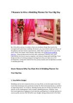 7 Reasons to Hire a Wedding Planner for Your Big Day