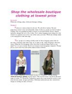 Shop the wholesale boutique clothing at lowest price