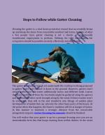 Steps to Follow while Gutter Cleaning