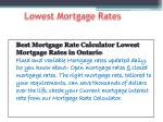 Best Mortgage Rate Calculator Lowest Mortgage Rates in Ontario
