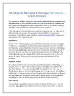 Rebooting The Mac Laptop & Mac Support For Outlook—Helpful Assistance