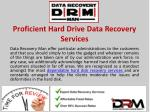 Proficient Hard Drive Data Recovery Services
