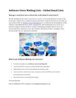 Software Users Mailing Lists – Global Email Lists
