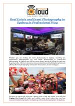 Real Estate and Event Photography in Sydney in Professional Way