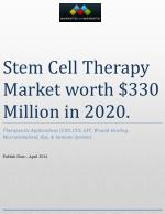 Stem Cell Therapy Market worth $330 Million in 2020.