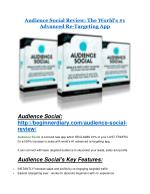 Audience Social review- Audience Social (MEGA) $21,400 bonus