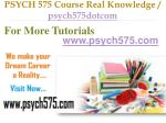 PSYCH 575 Course Real Tradition,Real Success / psych575dotcom