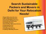 Search Sustainable Packers and Movers in Delhi for Your Relocation Needs!