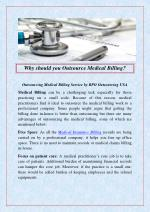 Why should you Outsource Medical Billing`