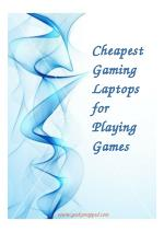 Cheapest Gaming Laptops for Playing Games